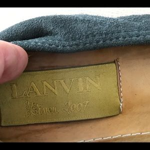 Lanvin Gray Suede Flat with bow